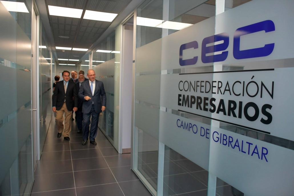 Los presidentes de CEC y CEA, en las nuevas oficinas del Campo de Gibraltar