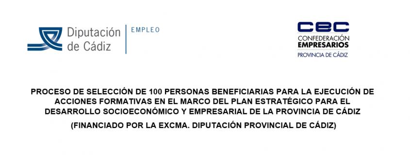 IMAGEN PROCESO SELECCION 100 PERSONAS. PLAN ESTRATEGICO
